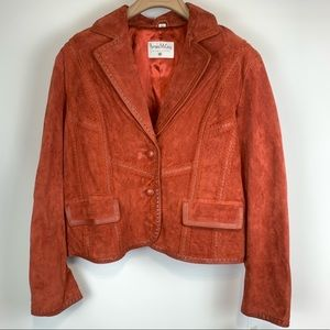 NWT Pamela McCoy collection suede jacket